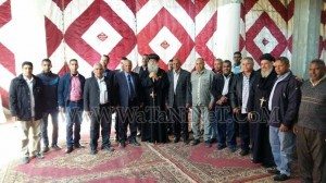 وفود رسمية وشعبية تهنئ الأنبا بيمن بالعيد في قوص1