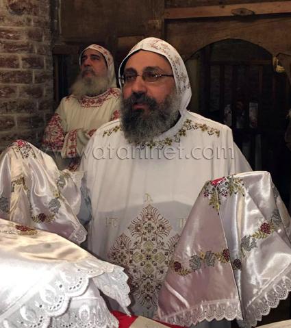 7 أسقف بني سويف يرأس قداس بكنيسة الحصن بالمحرق