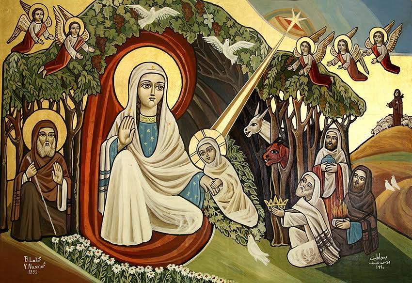 السلام وأيقونة الميلاد وطنى