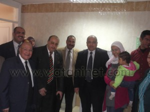 صلاح البلال رئيس جامعة مدينة السادات يرافقه الدكتور عصام الدين متولى نائب رئيس الجامعة (3)