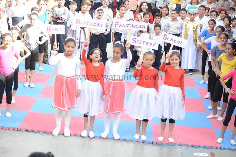مدرسة الراهبات الفرانسيسكانيات ببني سويف تحتفل بالعيد الاول لتعميرها 2