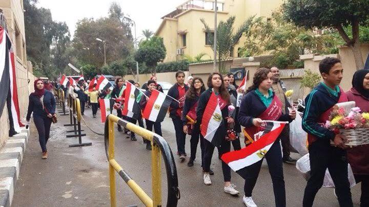 كلية النصر بالمعادي تهنئ الشرطة فى عيدها 4