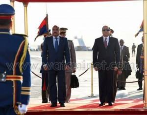 الرئيس الموريتاني بمطار القاهرة الدولي