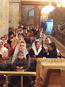 اجتماع الاسرة بكنيسة مارمينا يستقبل مطران بورسعيد 1