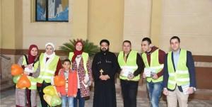 جمعية شباب من أجل مصر تشارك الكنيسة في الاحتفال برأس السنة